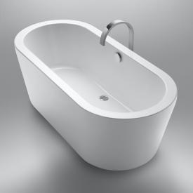 Repabad Livorno Freistehende Oval-Badewanne weiß