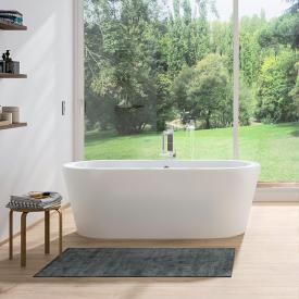 Repabad Livorno freistehende Oval-Badewanne weiß matt