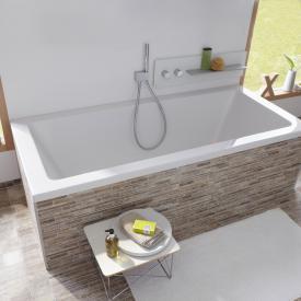 Repabad Livorno Rechteck-Badewanne weiß