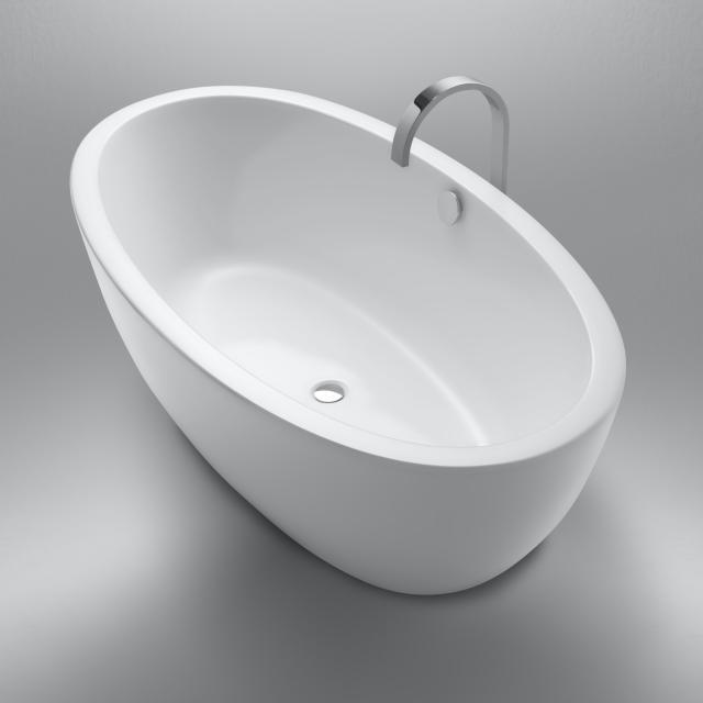 Repabad Ferrara Freistehende Oval-Badewanne weiß matt