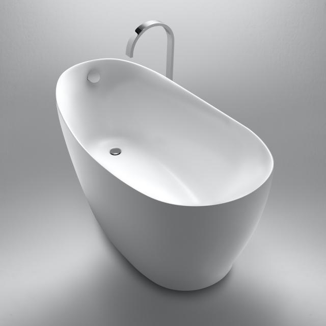 Repabad Ferrara Mono Freistehende Oval-Badewanne weiß matt