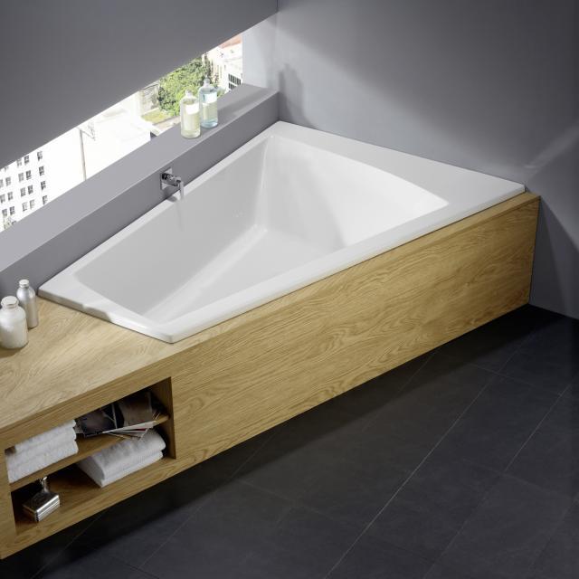 Repabad Genf Eck-Badewanne, Einbau weiß