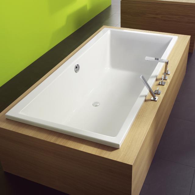 Repabad Genf Rechteck-Badewanne, Einbau weiß