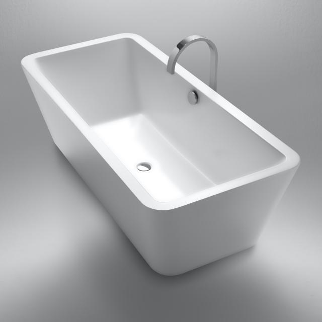 Repabad Livorno Freistehende Rechteck-Badewanne weiß matt