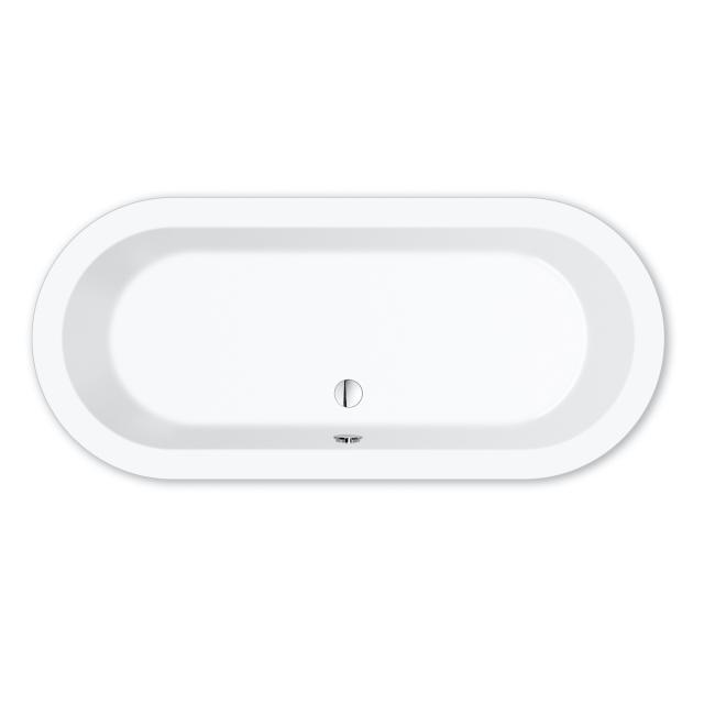 Repabad Livorno Oval-Badewanne weiß, mit RepaGrip