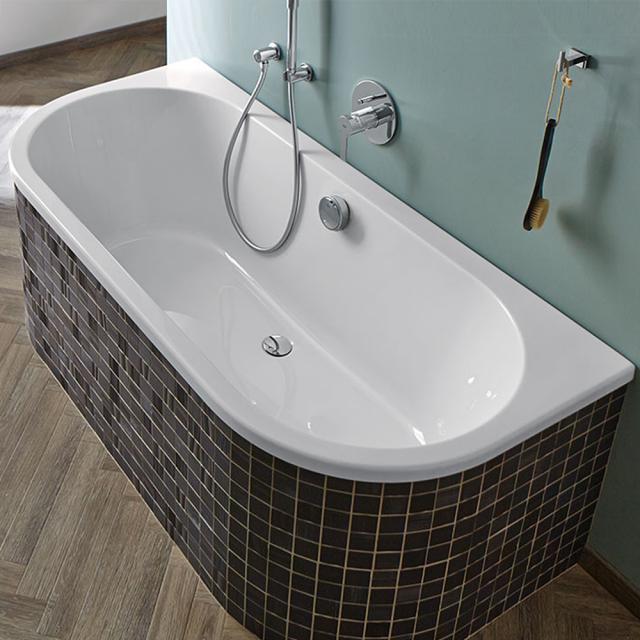 Repabad Livorno Vorwand-Badewanne, Einbau weiß