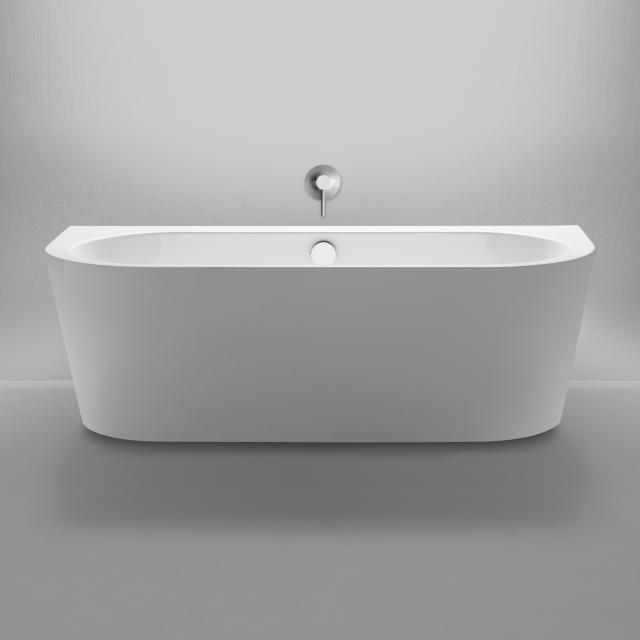 Repabad Livorno Vorwand-Badewanne mit Verkleidung weiß, ohne Füllfunktion
