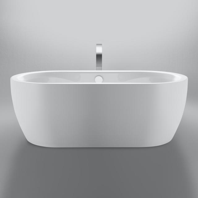 Repabad Pluto Freistehende Oval-Badewanne weiß