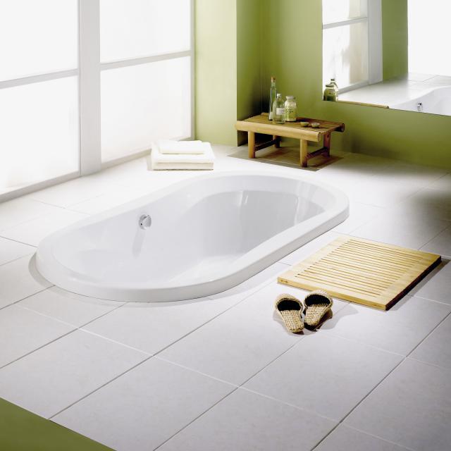 Repabad Pluto Oval-Badewanne, Einbau weiß