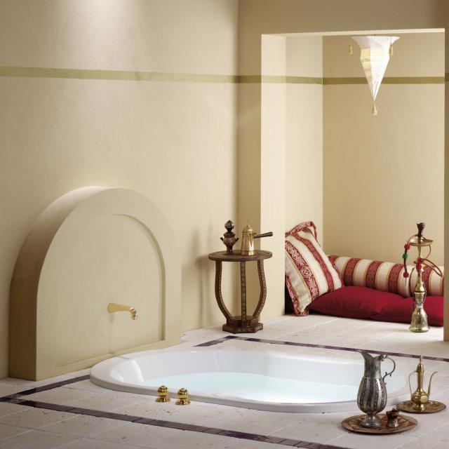 Repabad Wega Oval-Badewanne, Einbau weiß