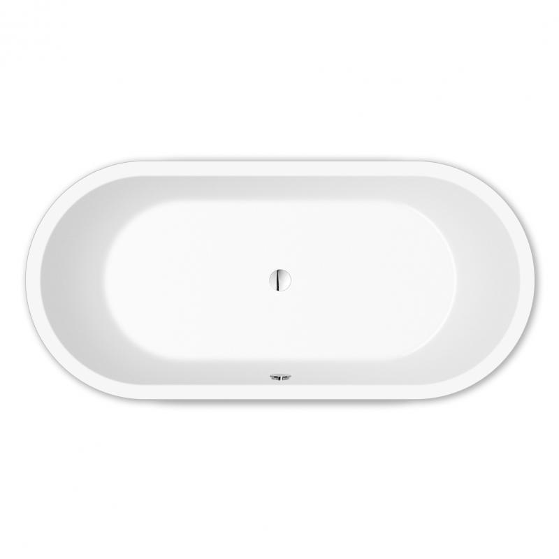 Repabad Livorno freistehende Oval-Badewanne Länge: 190 cm, Breite ...