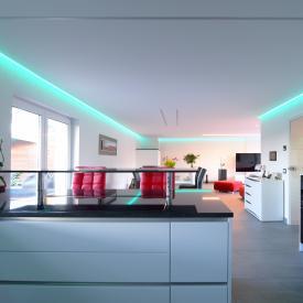 reprofil Hohes T LED Einbau Profil Set RGB-WW