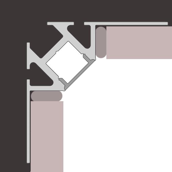 Reprofil Fliesen Innenecke Led Einbau Profil Set 202035 Reuter