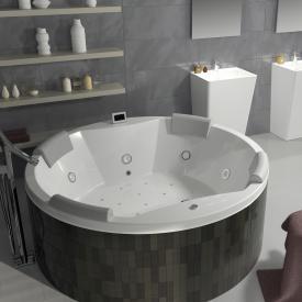 Riho Carmen Runder Thermae Whirlpool mit Farblichttherapie & Touch + Heizung