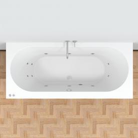 Riho Carolina Easypool Rechteck-Whirlpool mit mechanischer Bedienung Whirlpool, Ab- und Überlaufgarnitur, Fußgestell