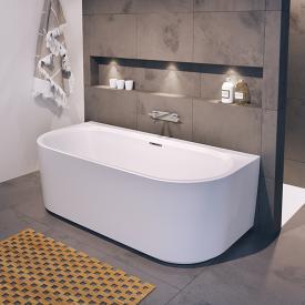 Riho Desire back2wall Vorwand-Badewanne mit Verkleidung weiß matt, ohne Füllfunktion