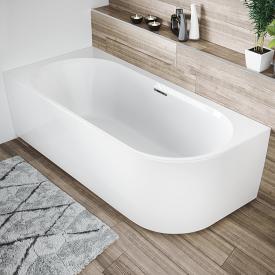 Riho Desire Corner Raumspar-Badewanne mit Verkleidung weiß, mit Füllfunktion