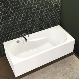 Riho Lazy Rechteck-Badewanne mit Verkleidung und seitichem Überlauf
