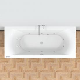 Riho Lima Easypool Rechteck-Whirlpool mit mechanischer Bedienung Whirlpool, Ab- und Überlaufgarnitur, Fußgestell