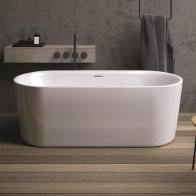 Riho Modesty Freistehende Oval-Badewanne weiß, mit Füllfunktion
