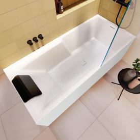 Riho Still Shower Rechteck-Badewanne mit Duschzone und Verkleidung mit Füllfunktion