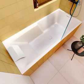 Riho Still Shower Rechteck-Badewanne mit LED-Beleuchtung mit Füllfunktion