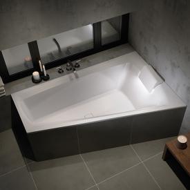 Riho Still Smart Raumspar-Badewanne mit LED-Beleuchtung und Kopfstütze ohne Füllfunktion