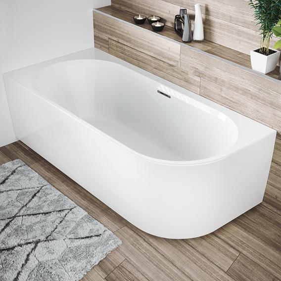 Riho Desire Corner Eck-Badewanne mit Verkleidung weiß, mit Füllfunktion