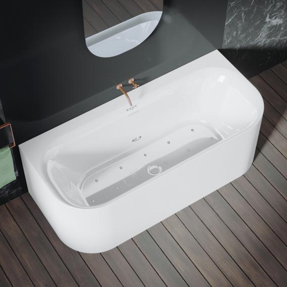Riho Devotion back2wall Vorwand-Whirlwanne mit Verkleidung weiß, ohne Füllfunktion