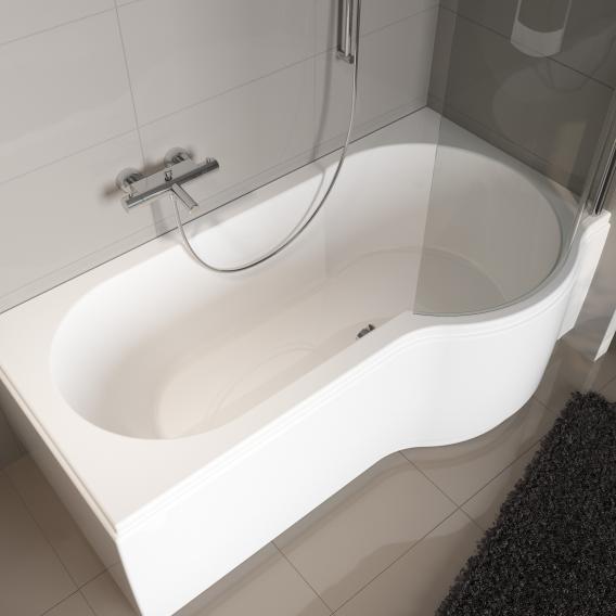Riho Dorado Rechteck-Badewanne mit Duschzone, Einbau