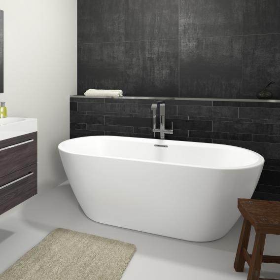 Riho Inspire Freistehende Oval-Badewanne weiß, ohne Füllfunktion