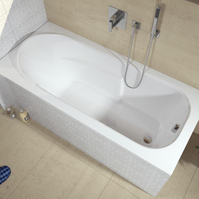 Riho Columbia Rechteck-Badewanne, Einbau