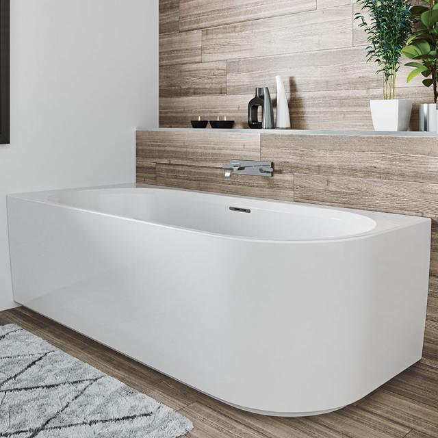 Riho Desire Corner Eck-Badewanne mit Verkleidung weiß matt, ohne Füllfunktion