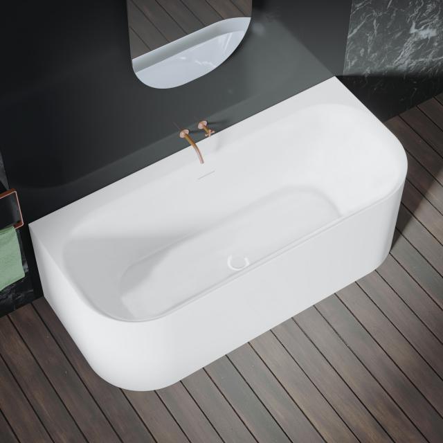 Riho Devotion back2wall Vorwand-Badewanne mit Verkleidung weiß matt, ohne Füllfunktion