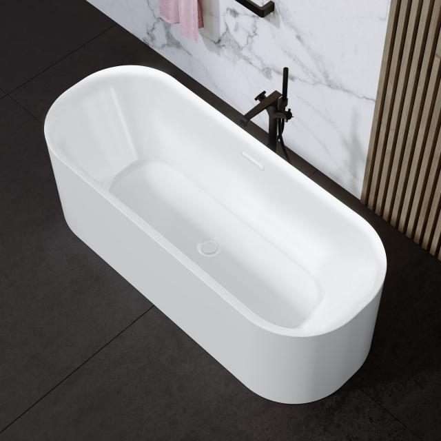 Riho Devotion Free Freistehende Oval-Badewanne weiß matt, ohne Füllfunktion