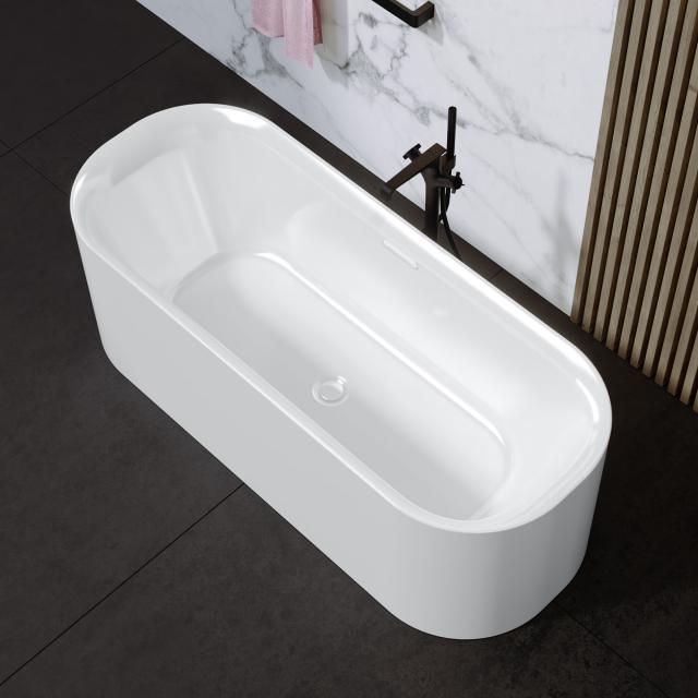 Riho Devotion Free Freistehende Oval-Badewanne weiß, ohne Füllfunktion