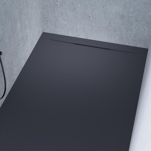 Riho Isola Rechteck-Duschwanne anthrazit matt