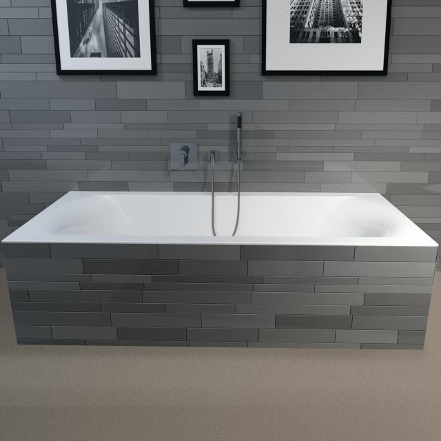 Riho Linares Rechteck-Badewanne, Einbau weiß matt