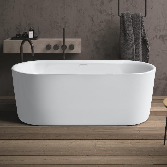 Riho Modesty Freistehende Oval-Badewanne weiß matt, ohne Füllfunktion