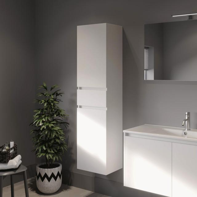 Riho Porto Hochschrank mit 2 Türen und 1 Auszug Front weiß hochglanz / Korpus weiß hochglanz