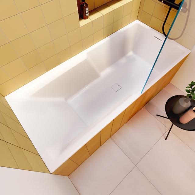 Riho Still Shower Rechteck-Badewanne mit Duschzone, Einbau mit Füllfunktion