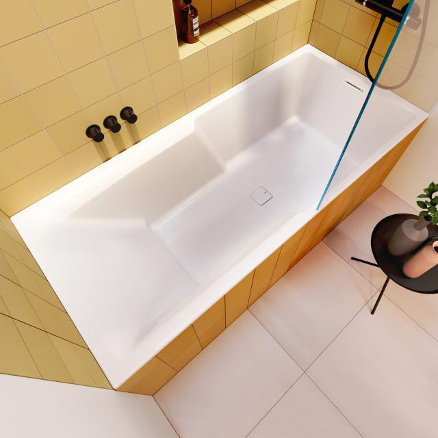 Riho Still Shower Rechteck-Badewanne mit Duschzone ohne Füllfunktion