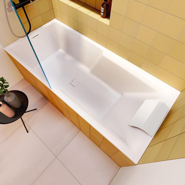 Riho Still Shower Rechteck-Badewanne  mit Duschzone und LED-Beleuchtung, Einbau mit Füllfunktion