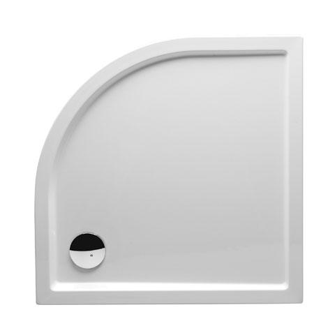 Riho Zürich Viertelkreis-Duschwanne für Bodenmontage