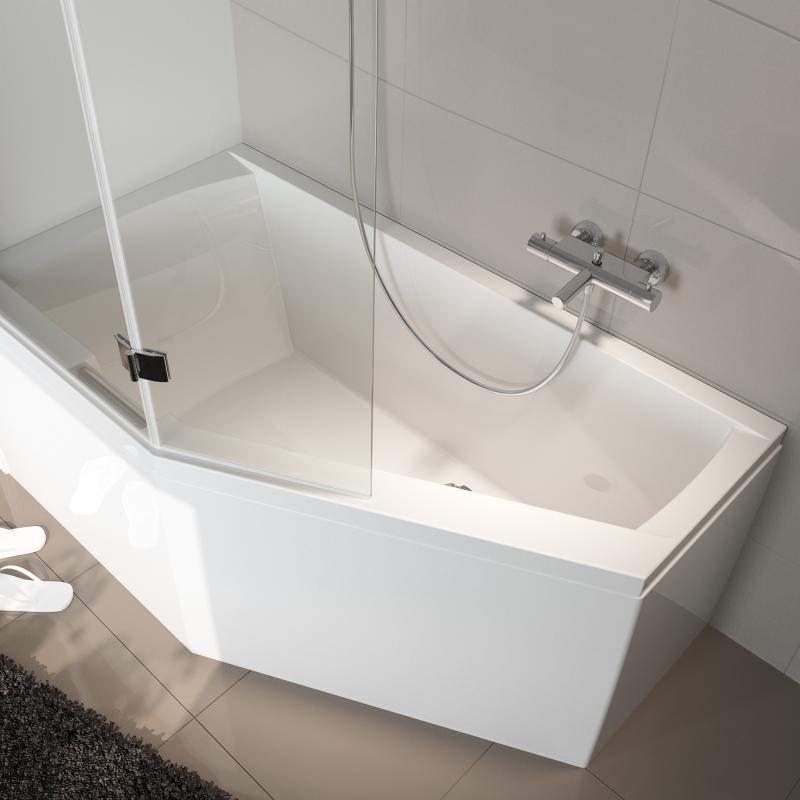 riho geta raumspar badewanne ausf hrung rechts ohne whirlsystem ba88005 reuter. Black Bedroom Furniture Sets. Home Design Ideas