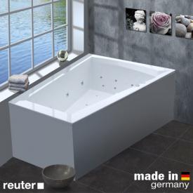 Reuter Kollektion Komfort Raumspar-Whirlwanne Premium mit Ab- und Überlaufgarnitur mit Wassereinlauf