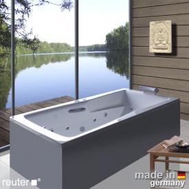 Reuter Kollektion Relax Rechteck-Whirlwanne mit Whirlsystem Premium mit Ab- und Überlaufgarnitur
