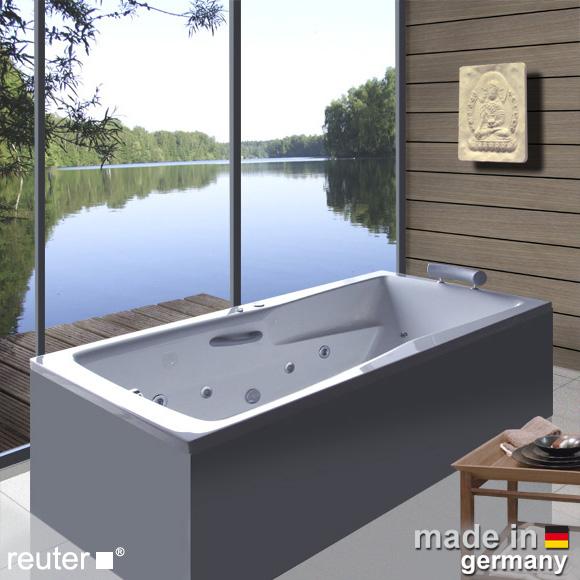 Reuter Kollektion Relax Rechteck-Whirlwanne Premium, Einbau mit Hydra-Jet