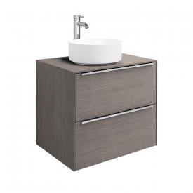 Roca Inspira Aufsatzwaschtisch round mit Waschtischunterschrank mit 2 Auszügen Front city eiche / Korpus city eiche