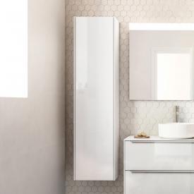 Roca Inspira LED-Hochschrank mit 1 Tür und 1 Spiegel Front weiß glanz / Korpus weiß glanz